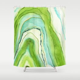 Agate Greenery Shower Curtain