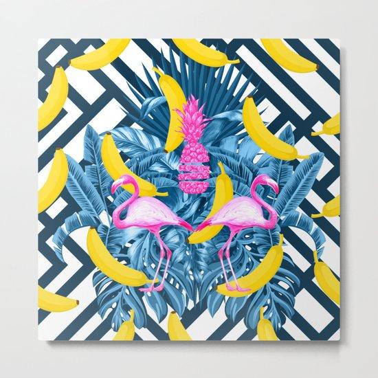 tropical banana fun  Metal Print