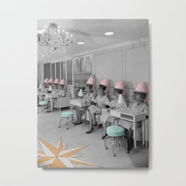 Vintage Hair Salon Metal Print