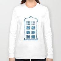 tardis Long Sleeve T-shirts featuring Tardis by Sahara Novotny