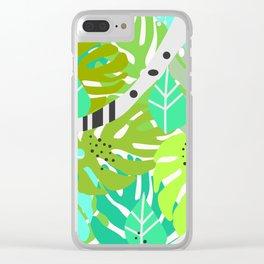 Green quiet jungle Clear iPhone Case