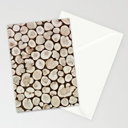 Background of wooden slices tree Stationery Cards