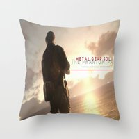 metal gear Throw Pillows featuring metal gear solid V  , metal gear solid V  games, metal gear solid V  blanket by Eirarose