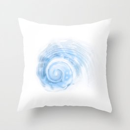 Soothing Watercolor Shell Throw Pillow