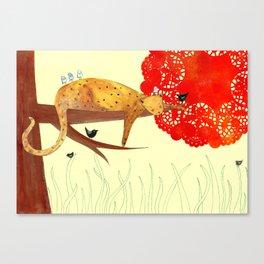 Sleeping Leopard Canvas Print