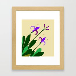 Lavenders and Violet Colored Lilies Framed Art Print