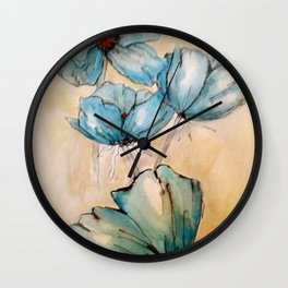 Vintage Blue Wall Clock