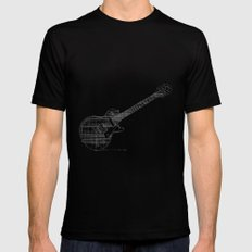 Black Guitar Black Mens Fitted Tee MEDIUM