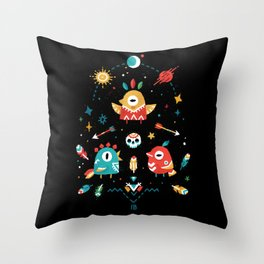Strange Bird Pattern Throw Pillow
