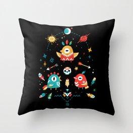 Strange Bird Pattern Throw Pillow