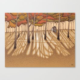 Small House in the Woods Canvas Print
