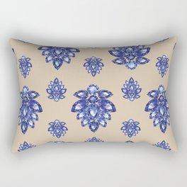 Jewelbox: Sapphire Brooch on Sand Rectangular Pillow