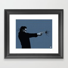 Kittappa Series - Blue Framed Art Print