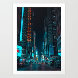 New York Bright Lights Art Print