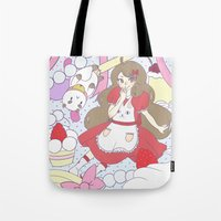 bee and puppycat Tote Bags featuring Bee & puppycat ver 1 by Kurodoj