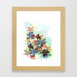 Acqua Floral Framed Art Print