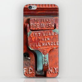 new york city ... fire alarm iPhone Skin