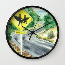 Beware of Surfers Wall Clock