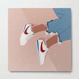 Uptown x Cortez Sneakers Metal Print