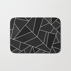 Black Stone Bath Mat