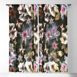 Amaryllis and Butterflies Blackout Curtain