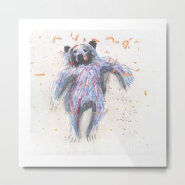 Dancing Bear Metal Print