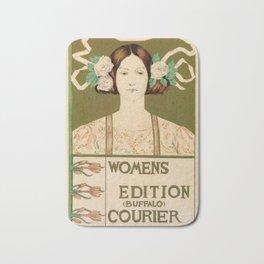 1895 Buffalo Courier for women  New York Bath Mat