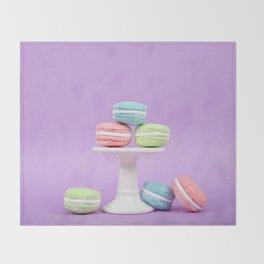Macaron Sweet Treats Throw Blanket