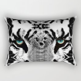 Dressed To Kill - White Tiger Art By Sharon Cummings Rectangular Pillow