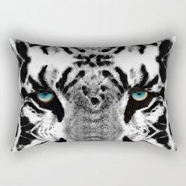 Dressed To Kill - White Tiger Art By Sharon Cummings Rectangular Pillow
