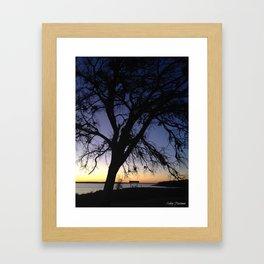Silhouette at Nightfall  Framed Art Print