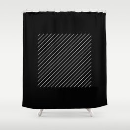 Minimalism - Black and white, geometric, abstract Shower Curtain