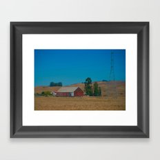 Red Barn in Napa Framed Art Print
