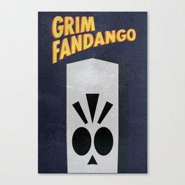 Minimalist Grim Fandango Poster Canvas Print