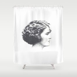 A portrait of Zelda Fitzgerald Shower Curtain