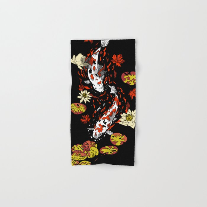 FALLING FISHES Hand & Bath Towel