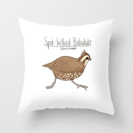 Spot-bellied Bobwhite Throw Pillow