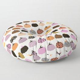 Halloween colorful indian summer pumpkin picking garden pink orange girls Floor Pillow