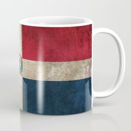 Old and Worn Distressed Vintage Flag of Dominican Republic Coffee Mug