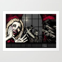 From the Window to the Walls: The Inevitable Zombie Apocalypse  Art Print