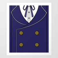 persona 4 Art Prints featuring Persona 4 Naoto Shirogane Jacket by Bunny Frost