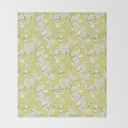 ginkgo leaves (special edition) Throw Blanket