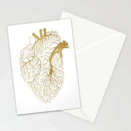 Heart Branches - Gold Stationery Cards