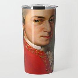 Wolfgang Amadeus Mozart (1756 -1791) by Barbara Krafft (1819) Travel Mug
