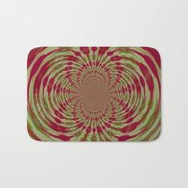 Abstract, Pink, White, Green (CA17077K) Bath Mat