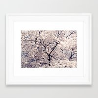cherry blossom Framed Art Prints featuring Cherry Blossom * by Neon Wildlife