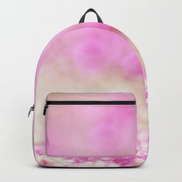 Pink and white shiny glitter effect print - Sparkle Valentine Backdrop Backpack