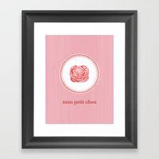 My Little Cabbage Framed Art Print