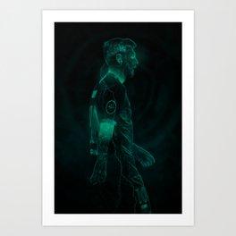 MESSI / GLOW ART Art Print