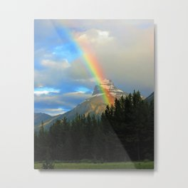 Rainbow in the Rocky Mountains Metal Print